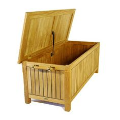 Somerset Teak Cushion Storage Dock Box And Chest