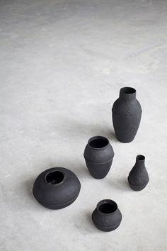 Paperpulp Vases by Debbie Wijskamp for Serax
