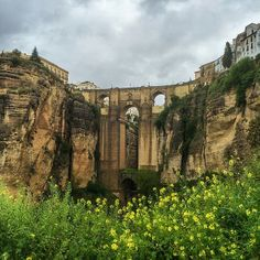 The Puente Nuevo, or New Bridge, divides the city of Ronda, #Spain. Photo courtesy of brianthio on Instagram.