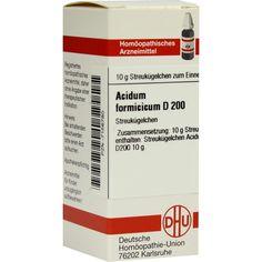 ACIDUM FORMICICUM D 200 Globuli:   Packungsinhalt: 10 g Globuli PZN: 07156780 Hersteller: DHU-Arzneimittel GmbH & Co. KG Preis: 9,59 EUR…