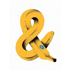 Latest News in Type & DesignさんはInstagramを利用しています:「Bananampersand by Brent Schoepf @horseandlantern. #typeverything」