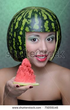 Find Woman Watermelon Helmet stock images in HD and millions of other royalty-free stock photos, illustrations and vectors in the Shutterstock collection. Thousands of new, high-quality pictures added every day. Awkward Photos, Funny Photos, Funny Stock Photos, Haha Funny, Funny Memes, Bad Memes, Image Memes, Funny Bunnies, Cursed Images