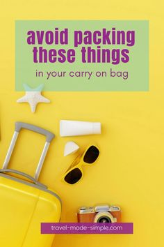You should avoid packing certain things in your carry on bag because they're forbidden for security reasons. Our post explains what things are not allowed and helps you pack smarter. Best Luggage, Carry On Luggage, Carry On Bag, Air Travel Tips, Travel Advice, Travel Bags, Simple Blog, Make It Simple, Luggage Sizes