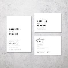 CAMILLA AND MASON