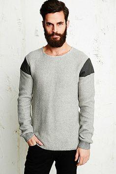 Suit Constantine Shoulder Insert Sweater in Grey /   Buy it, Borderlinx will ship it to you.  http://www.borderlinx.com/
