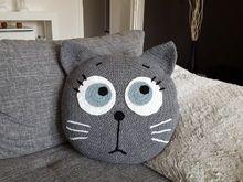 Häkelanleitung Kissen Tierkissen launische Katze
