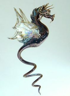 glass dragons from fire creation