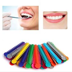 40 Sticks / Pack Multi Color Dental Ligature Ties Orthodontics Elastic Rubber Bands