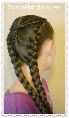 Hourglass braid hairstyle