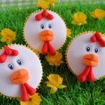 Op de boerderij: Kippen cupcakes