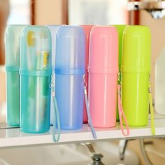 Travel home cute couple travel toothbrush box toothpaste holder protect case cup storage sanitary ware accessories Toothbrush Holder Wall, Toothpaste Holder, Bath Travel, Bathroom Accessories Sets, Travel Couple, Plastic, Ebay, Camping, Things To Sell