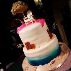 Beachy birthday cake. :)