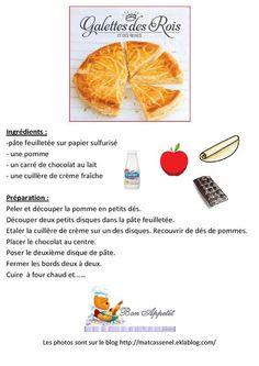 La recette de la galette pommes-chocolat Brunch, Pineapple, Cooking Recipes, Sweets, Princesses, Cake, Couture, Disney, Sweet Treats