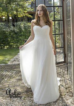 Νυφικά Φορέματα για ΠΑΧΟΥΛΕΣ, σε Μεγάλα Μεγέθη : Νυφικό Φόρεμα, για Παχουλή Νύφη, με Αποσπώμενο jacket. Κωδ. Darlene Elegant, One Shoulder Wedding Dress, Bridal, Wedding Dresses, Jackets, Collection, Style, Fashion, Ball Gown Wedding