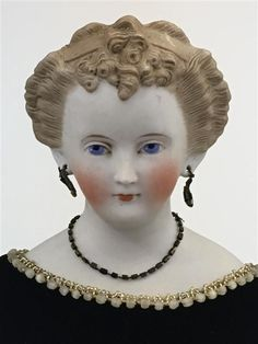 Buy online, view images and see past prices for 21 Black Velvet Dress, Antique China, Doll Head, Ear Piercings, Love Her, Sculpting, Ears, Facial, 21st