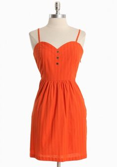 Textured, persimmon-colored dress. $76.99