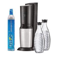 SodaStream® Aqua Fizz Sparkling Water Maker Starter Kit | Bed Bath & Beyond Plastic Bottles, Glass Bottles, Best Soda, Safe Glass, Carafe, Home Goods, Aqua, Bubbles, Water Bottle