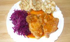 Pečena bravčová krkovička, karlovarský knedlík a červená kapusta - Báječné recepty