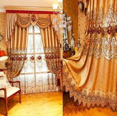 Cheap curtain loop, Buy Quality curtain height directly from China curtains green Suppliers: New Design Luxury Curtains for Living Room Golden Embroidered Fabric Blinds Curtains for Bedroom Window Curtain Custom M