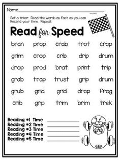 This is a FREE sample of my Read for Speed Reading Packet.You can get the whole packet here:Read for Speed Summer Reading Packet