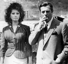 Sophia Loren,Marcello Mastroianni in: Matrimonio all'italiana