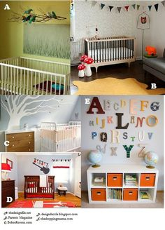 Decorating a Nursery on a Budget | The Baby Trend Blog- LOVE LOVE LOVE the abc wall also saw another done with a collage of the first letter of his name N