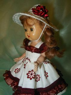 Dress and hat for Muffy and Ginny dolls.