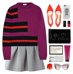 """""""Untitled #372"""" by ino-6283 ❤ liked on Polyvore featuring T By Alexander Wang, Fendi, Love Moschino, philosophy, NARS Cosmetics, Casetify, Tom Ford, Gianvito Rossi, esum and Urban Decay"""