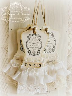 romantic dress form hangtags