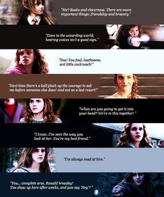 Hermione Granger has always been my favorite character. From the stone to the Hallows, Hermione Jean Granger can't get any better. Harry Potter Tumblr, Photo Harry Potter, La Saga Harry Potter, Mundo Harry Potter, Harry Potter Quotes, Harry Potter Love, Harry Potter Fandom, Hermione Quotes, Ron And Hermione