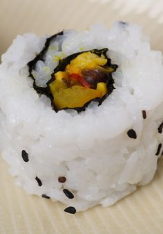 Curried Tempeh Sushi- I would love to try this recipe out!