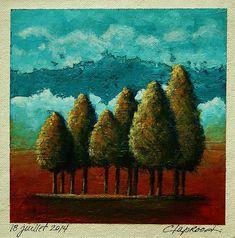 18 juillet 2014  : Original Acrylic Painting  by MarieClaproodArt