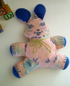 Vintage Rag Doll Rabbit. $25.00, via Etsy.