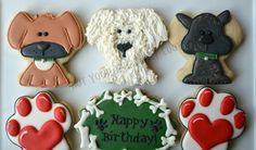Not your Everyday Cookies - puppy dogs & paws