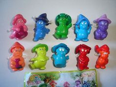 Kinder Surprise Set Painty Ten Gnomes Crayons 2006 Figures Toys Collectibles | eBay