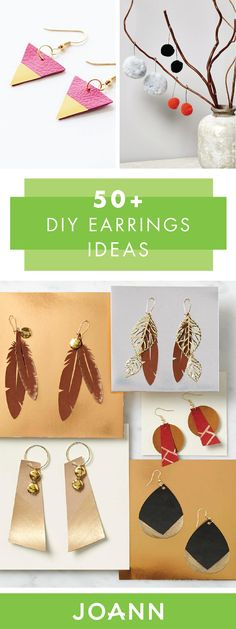 Make your own accessories with the help of these 50+ DIY Earring Projects from JOANN! Using everything from leather and feathers to beads and mixed metals, you're sure to find the perfect pair to add to your jewelry collection.