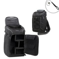 DSLR Camera Bag with Carrying Sling , Waterproof Cover and Accessory Storage by USA Gear - Works with Canon EOS Rebel T6 , 80D , PowerShot SX420 IS and Many Other Cameras ** You can find more details by visiting the image link.