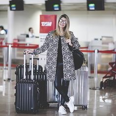 Break up an all-black ensemble with a printed jacket. You also won't have to worry about freezing in the overly air-conditioned terminal.