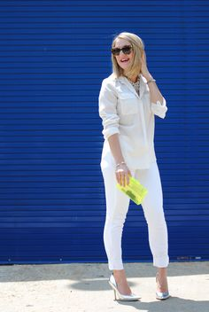A Lacey Perspective: Every Girl Needs (white jeans 3 ways & a giveaway!)