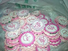 Mints for princess baby shower