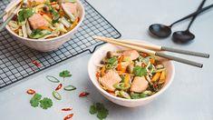 Ázijská polievka s hubami shimeji a pstruhom