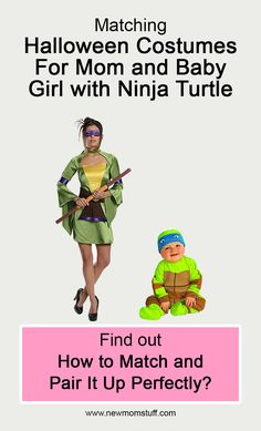 Matching Halloween Costumes For Mom and Baby Girl with Ninja Turtle Find out how to match and pair it up perfectly? matching_halloween_costumes_for_mom_and_baby_girl Matching Halloween Costumes, Mom Costumes, Newborn Schedule, Toddler Schedule, Ninja, Pregnancy Workout, Pregnancy Tips, Toddler Discipline, Baby Care Tips