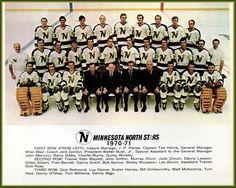Minnesota North Stars 1970-1971 Hockey Teams, Hockey Players, Ice Hockey, Minnesota North Stars, Minnesota Wild, Team Pictures, Team Photos, Wild North, Good Old Times