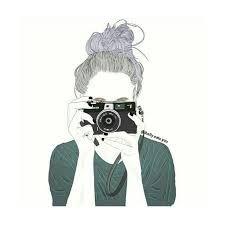 """Résultat de recherche d'images pour """"drawings of girls tumblr with camera"""""""