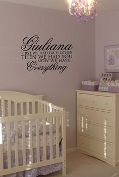 Personalized First We Had Each Other, then we had You, Now We Have Everything Vinyl Wall Art by designstudiosigns, $34.00