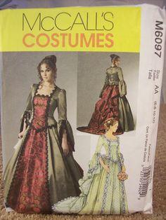 Uncut McCall's Costumes M6097 Women Sizes 681012 by ECCENTRICRON
