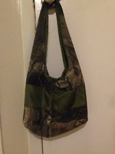 Homemade Camouflage And Green Hand Bag