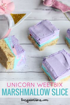 This Unicorn Weetbix Marshmallow Slice is the perfect sweet addition to any Unicorn themed party. It tastes amazing and it's super easy to make. Baking Recipes, Cake Recipes, Dessert Recipes, Fudge Recipes, Easy Desserts, Marshmallow Slice, Marshmallow Cookies, Chocolate Weetbix Slice, Chocolate Bars