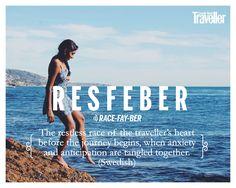 Resfeber: Swedish; the restless race of the traveller's heart before the journey…