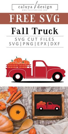 FREE Fall Vintage truck with pumpkin SVG cut file, Printable vector clip art download. Free printable clip art. Compatible with Cameo Silhouette, Cricut explore and other major cutting machines. 100% for personal use. Perfect for DIY craft project with Cricut & Cameo Silhouette, card making, scrapbooking, making planner stickers, making vinyl decals, decorating t-shirts with HTV and more! Free SVG cut file, Pumpkin SVG cut file, fall red truck SVG cut file, red truck clipart printable Fall Projects, Diy Craft Projects, Project Ideas, Free Printable Clip Art, Printable Crafts, Free Printables, Shilouette Cameo, How To Make Planner, Cricut Creations